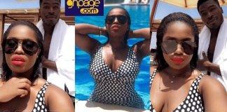 Photos: YOLO Actress, Serwaa Opoku Addo Looking Stunning As She Goes Swimming With Boyfriend