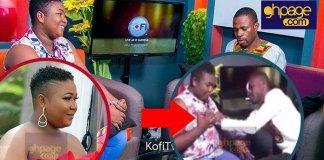 A video of Adom Fm presenter, Kofi Adoma fondling the boobs of popular Kumawood actress goes viral