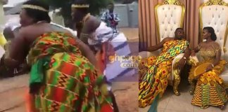 Watch The Cultural Display At John Dumelo And Mawunya's Wedding