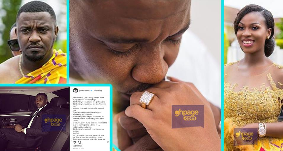 John Dumelo outlined the reasons why you should get married