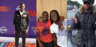 Stonebwoy hangs out with Big Shaq