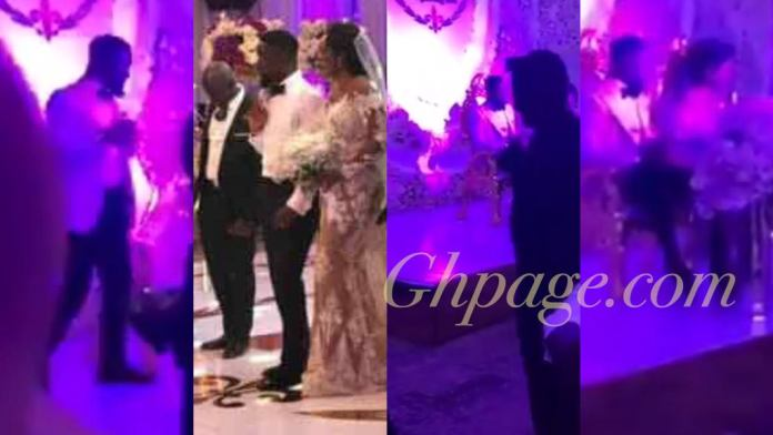 First video from Sarkodie and Tracy's white wedding