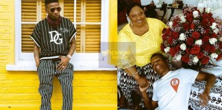 Wizkid shares lovely photo with his mum
