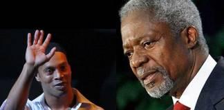 Ronaldinho pays tribute to the late Kofi Annan