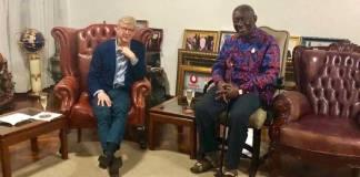 Former Arsenal boss Arsene Wenger visits former Pres. Kufuor in Ghana