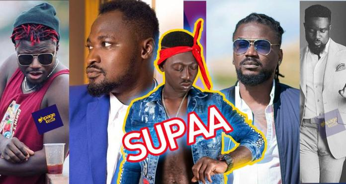 Image result for Identified with a bandana headband just as we saw with Tupac,Supa's style has now become a challenge with almost all the top Ghanaian celebrities wading into it. READ ALSO: Angel Obinim angrily insults Rev. Sam Korankye Ankrah Some of his entertaining videos which keep trending on social media has obviously resulted in a Challenge which has even earned him a meeting with star rapper Sarkodie.