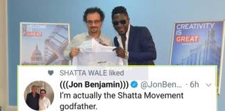 Jon Benjamin reveals he is the God Father of Shatta Movement