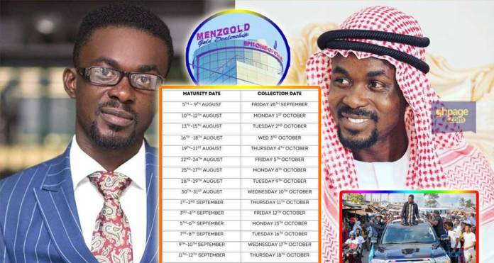 Payment rationing: Menzgold releases the payment schedule for investors whose principal have matured