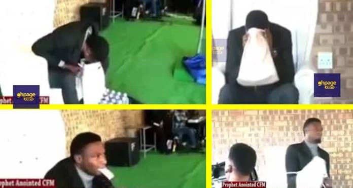 Pastor vomits cash in front of church members