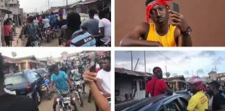 Supa causes motor traffic; given a heroic welcome in Nima
