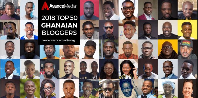Avance Media announces top 50 Ghanaian best bloggers list for 2018