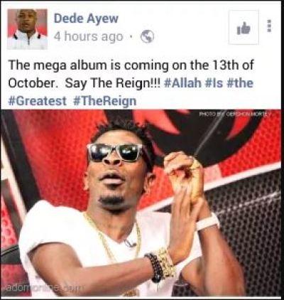 Football star Dede Ayew 'endorses' Shatta Wale's reign album