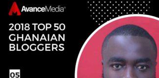 Fiifi Adinkra Ranked 5th On 2018 Top 50 Ghanaian Bloggers