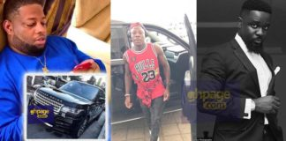 Ghanaian artists who own a 'Tier Rubber' Range Rover Vogue