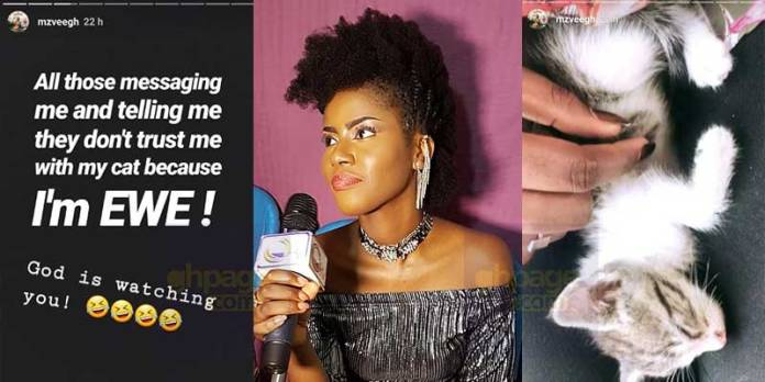 Stop mocking me for being an Ewe - MzVee cries out on social media