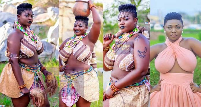 Big boob Kumawood star,Safina celebrates birthday with stunning photos