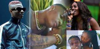 Nigerian singers, Wizkid and Tiwa Savage have sparked another relationship rumors in a 'romantic' scene in a new music video of hit song 'Fever.'