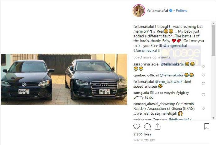 Fella Makafui expresses undying love for Medikal