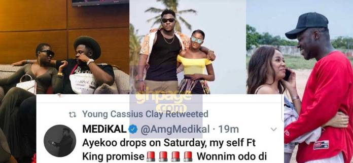 Looks like Sister Deborah has chewed a wrong meat after attacking Medikal and Fella Makafui with her