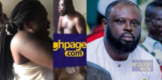 Close shots of the woman who was caught with Badu Kobi's Jnr Pastor