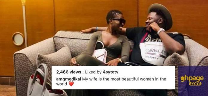 Medikal describes Fella Makafui as the most beautiful woman on earth