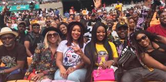 Ghanaian stars at the Global Citizen Festival in South Africa