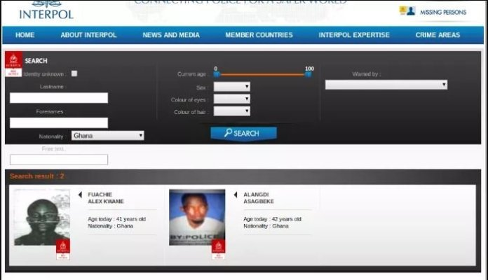 Only two Ghanaians found on INTERPOL most wanted list but Nana Appiah Mensah's name not listed as being speculated