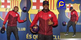 All the photos you missed when Kevin Prince Boateng was signed to Barcelona FC