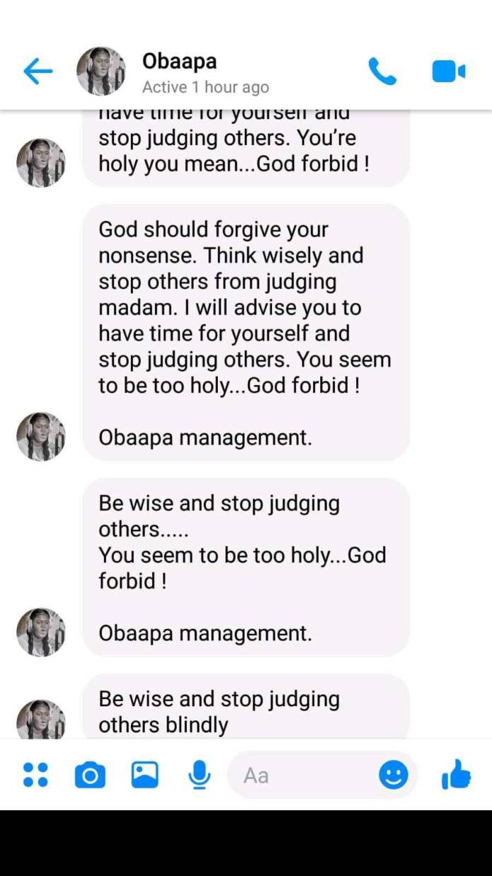 Obaapa Christy attacks Esaaba Haizel