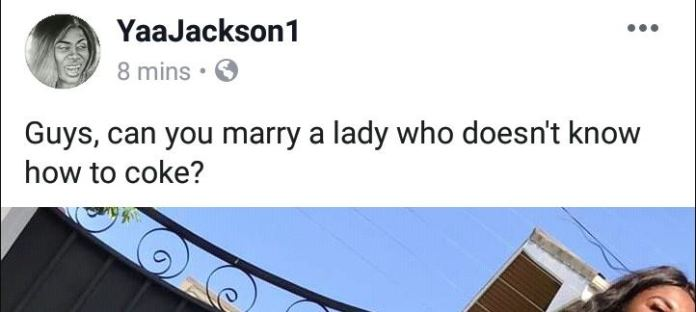 "Social media users mock Yaa Jackson for typing 'cook' as ""COKE"""