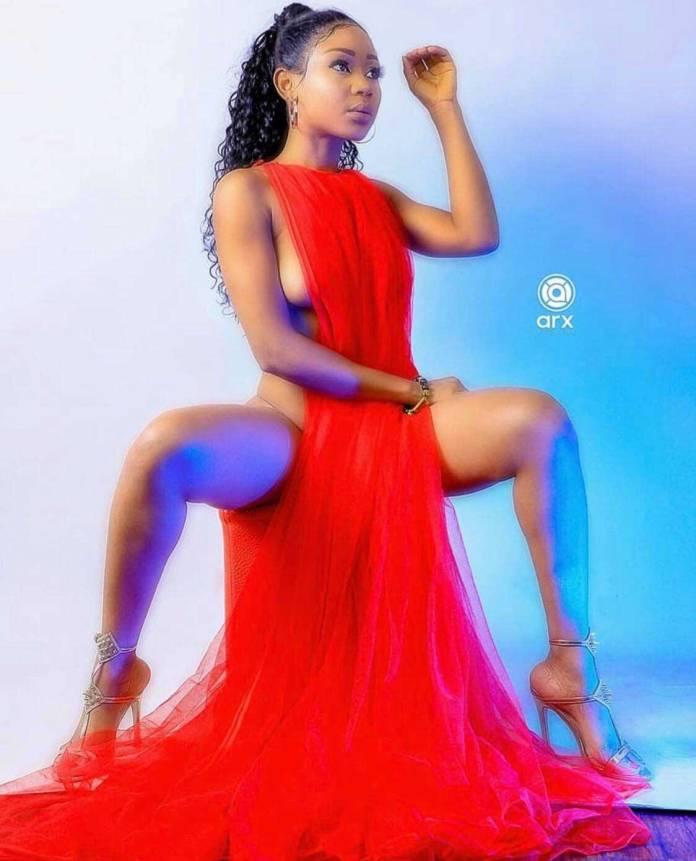 Akuapem Poloo Valentines Day 1 - Akuapem Poloo almost showed her 'Akosua Kuma' in a latest video