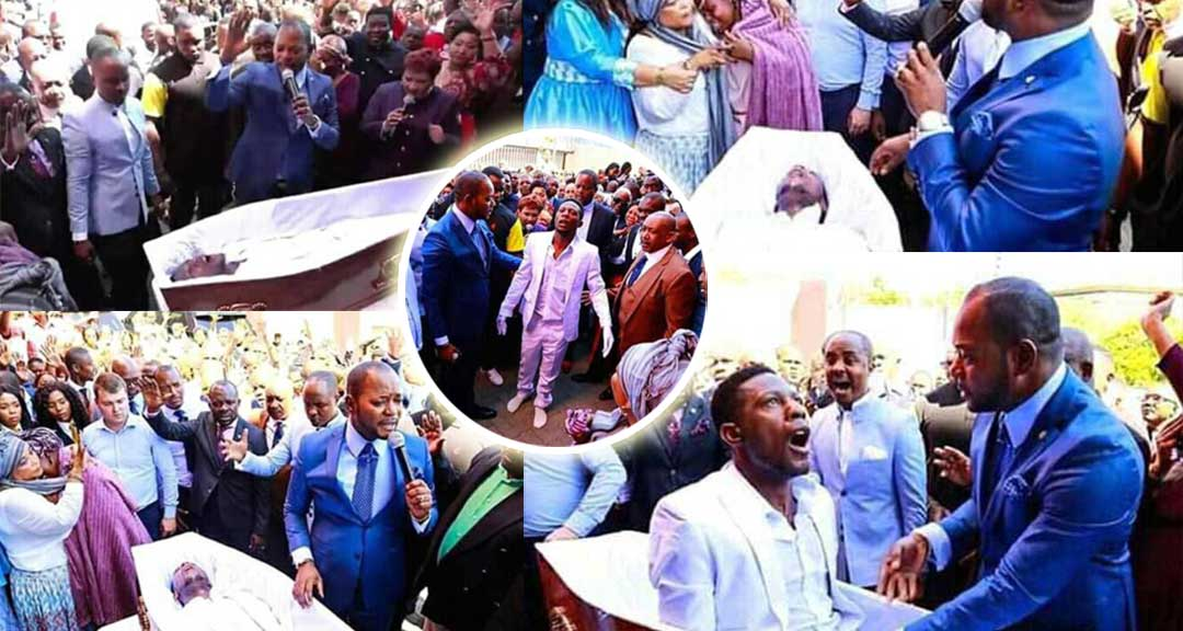 Pastor Alpha Lukau resurrects a dead man from his coffin on his burial day [Video+Photos]