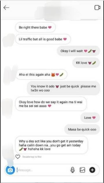 N@ked photos & 'atopa chats' between a female celebrity and her 'sugar boy' leaked