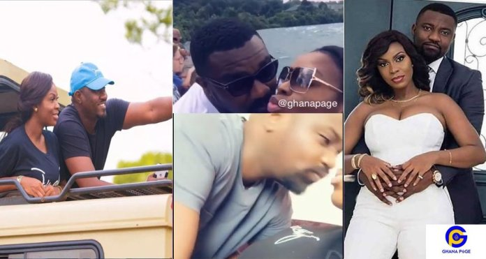 John Dumelo and wife Mawunya shares a lovely sweet kisses on vacation