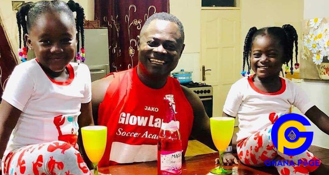Odartey Lamptey twin daughters 1 - Odartey Lamptey flaunts his beautiful twin daughters on social media