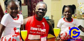 Photos: Odartey Lamptey flaunts his beautiful twin daughters - No DNA test needed to be sure