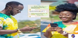 Checkout the lovely Whatsapp chat between Okyeame Kwame and wife