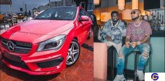 Davido buys his personal assistant Lati a Mercedez Benz