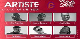 Who takes the crown? Here is the lists of artists battling for Artist of the Year at VGMA 2019