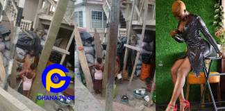 New photos of rich Fella Makafui's mother selling charcoal to survive pops up on social media [SEE]