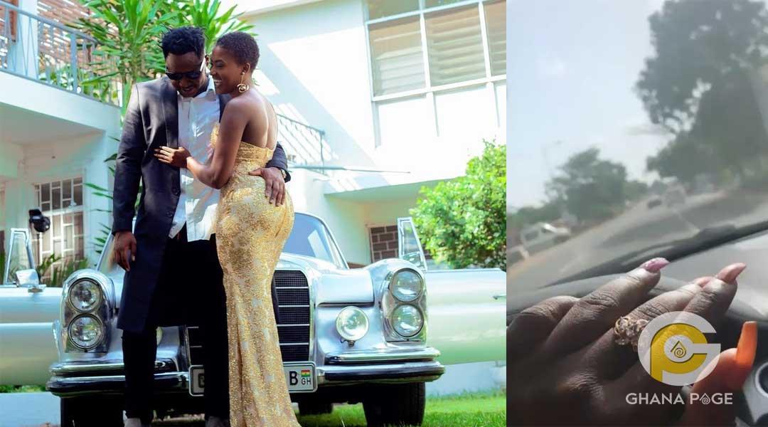 Fella Makafui and MDK - Fella Makafui flaunts her promise ring worth GHC 400,000