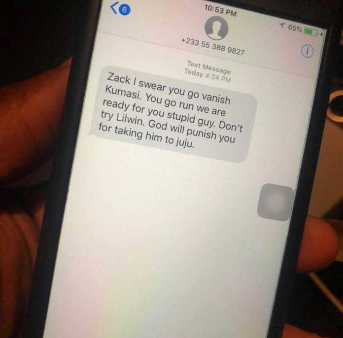 Lilwin Zack death threat - Lilwin's fmr manager receives death threats after Nigel's padlock prophecy