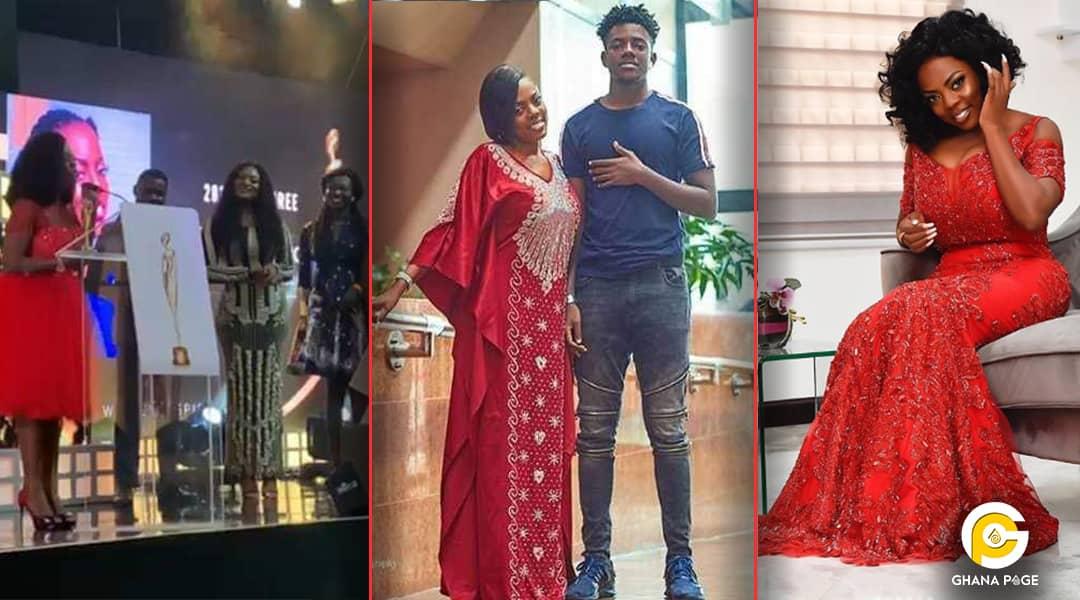 Nana Aba Anamoah - Nana Aba Anamoah dedicates award to son with touching speech