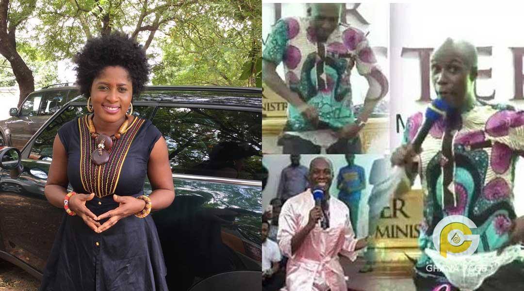 Patience Nyarko and Prophet Kofi Oduro - Patience Nyarko descends on Prophet Kofi Oduro for pant demonstration