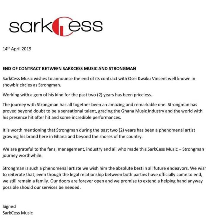 Strongman contract Sarkcess end - Strongman mocks Sarkodie after he 'kicked him out' of Sarkcess Music
