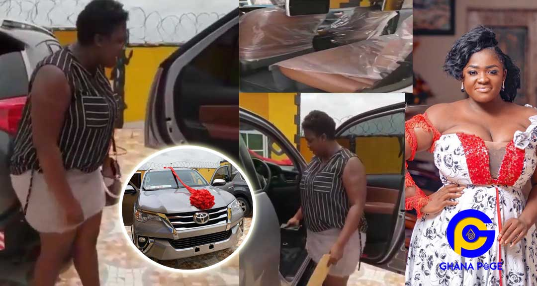 Tracey Boakye 1 - Tracey Boakye gets tear-rubber car as a surprise Easter gift from boyfriend