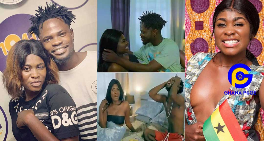 "Yaa Jackson Fameye 1 - Yaa Jackson and Fameye 'chop' crazy love in the visuals of ""Ehwe Papa"""