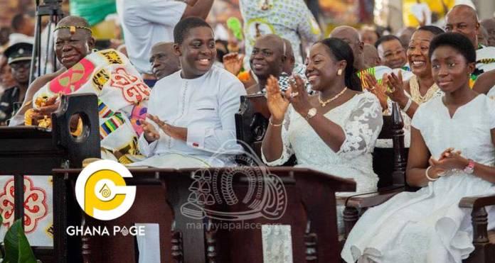 Photos: Meet Nana Afia Kobi Ampem and Nana Kwame Kyeretwie, the two children of Otumfour Osei Tutu II