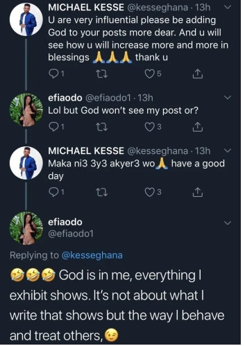 Efia Odo Blasts Kesse For Asking Her To Use Her Social Media Pages To Preach The Word Of God