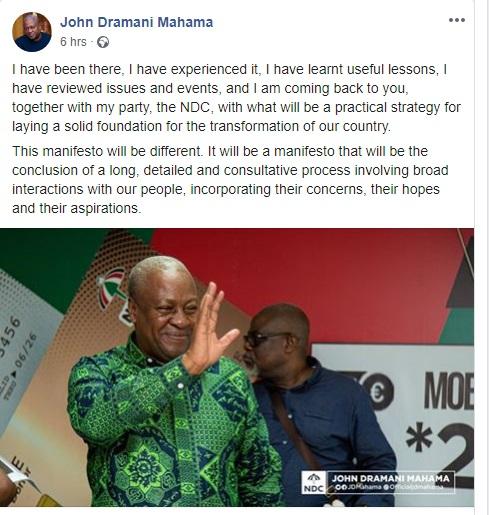 I'll transform Ghana, I have learnt my lessons -John Mahama 2